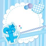 Cute blue frame Stock Photos