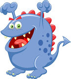 Cute blue monster cartoon Royalty Free Stock Photography