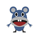 Cute blue mouse Stock Images