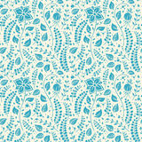 Cute blue natural pattern Stock Image