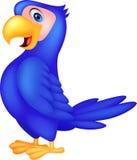 Cute blue parrot cartoon vector illustration