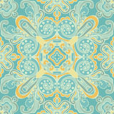 Cute Blue Seamless abstract tiled pattern vector Royalty Free Stock Photo