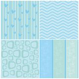 Cute Blue Simple Background. Blue simple background with cute pattern design Royalty Free Stock Images