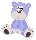 Cute blue sitting bear-isolated Stock Photos
