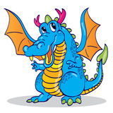 Cute blue sky dragon Stock Images