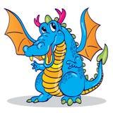 Cute blue sky dragon. A happy cute blue sky dragon mascot Stock Images
