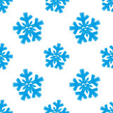 Cute blue snowflakes. Cute blue snowflakes on a white background Stock Photography
