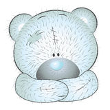 Cute blue teddy bear Royalty Free Stock Photo