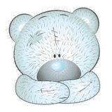 Cute blue teddy bear Royalty Free Stock Photo