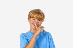Cute bold faced boy Royalty Free Stock Photography