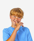 Cute bold faced boy Royalty Free Stock Image