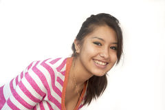 Cute Bolivian girl smiling Royalty Free Stock Images