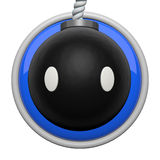 Cute bomb character icon Stock Photo