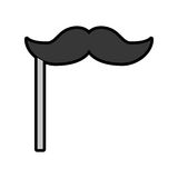 Cute booth prop moustache cartoon. Vector graphic design Stock Image
