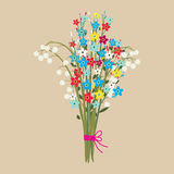 Cute bouquet of flowers. Stock Image