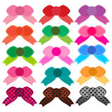 Cute bow colors Stock Images