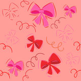 Cute bow decorations. background.seamless Stock Images