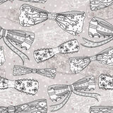 Cute bow seamless pattern Stock Images