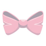 Cute bown pink isolated icon Royalty Free Stock Images
