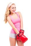 Cute boxer. Royalty Free Stock Photography