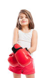 Cute boxer child Stock Images