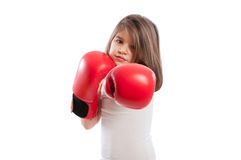 Cute boxer daughter Royalty Free Stock Image
