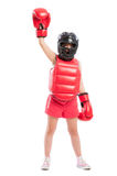 Cute boxer girl champion Royalty Free Stock Photo