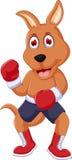 Cute boxing kangaroo cartoon. Illustration of cute boxing kangaroo cartoon Royalty Free Stock Image