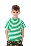 Cute boy anger Royalty Free Stock Photo