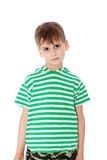 Cute boy anger Royalty Free Stock Photos