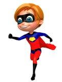 cute boy as a superhero running pose Stock Photography