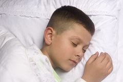 Cute boy asleep Stock Image