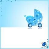 Cute boy baby card Stock Photo