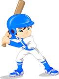 Cute boy baseball player Stock Photography