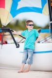 Cute boy at beach Royalty Free Stock Photography