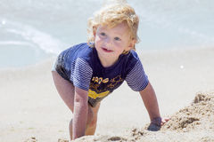 Cute boy at the beach Stock Photo