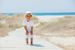Cute boy on the beach Stock Photo