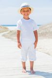 Cute boy on the beach Stock Photography
