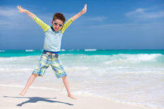 Cute boy at beach Royalty Free Stock Image