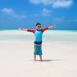 Cute boy at beach Royalty Free Stock Photos