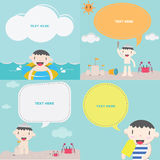 Cute boy on the beach I : Kids Royalty Free Stock Photography