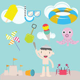 Cute boy on the beach : Kids Stock Photography