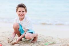 Cute boy at beach Stock Photo