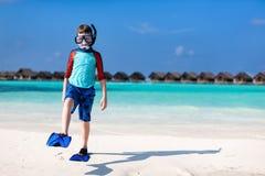 Cute boy at beach Royalty Free Stock Image