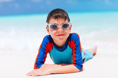 Cute boy at beach Royalty Free Stock Photo