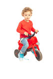 Cute boy with bike Royalty Free Stock Photos
