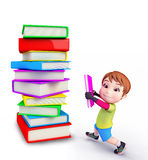 Cute boy with books Stock Photos