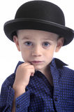 Cute boy with bowler hat Stock Photography