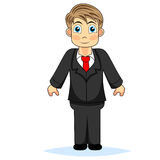 Cute boy businessman Stock Images