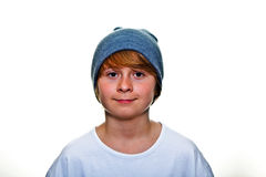 Cute boy with cap Royalty Free Stock Photography